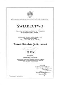 Świadectwo-uzyskania-uprawnień-rzeczoznawcy-Tomasz-Górski