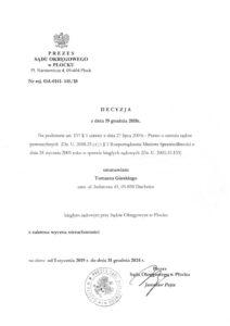 Decyzja-Prezes-Sądu-Okregowego-Płock-Uprawnienia-Rzeczoznawcy-Tomasz-Górski
