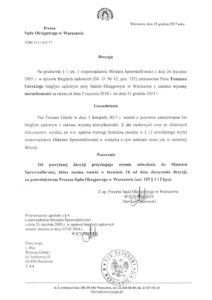 Decyzja-Prezes-Sądu-Warszawa-Praga-Uprawnienia-Rzeczoznawcy-Tomasz-Górski-Wycena-Nieruchomości